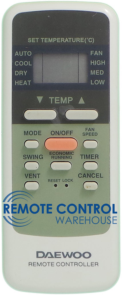 DAEWOO Air Conditioner Remote Control - R51/E