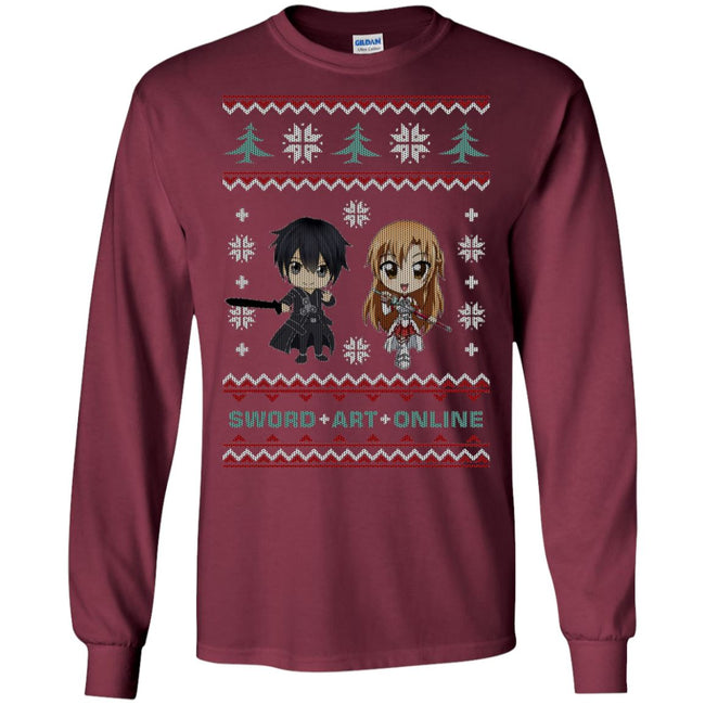 Sword Art Online Chibi Ugly Christmas Sweater