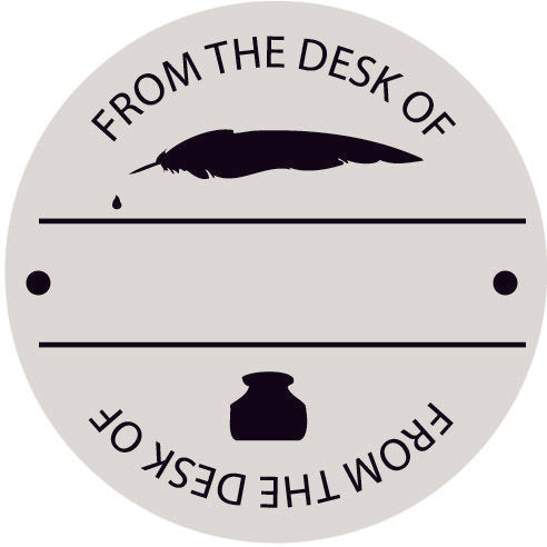 Fill-In Desk Round Stamp