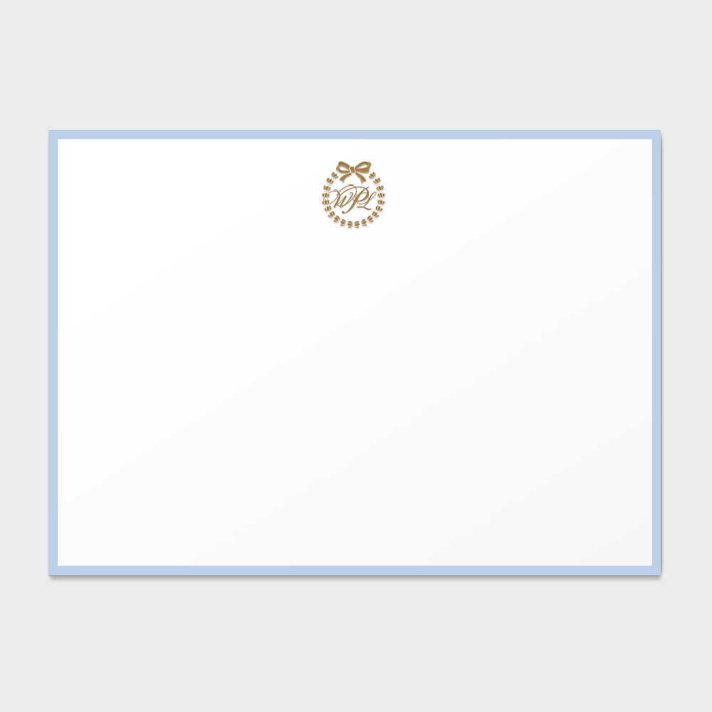 Citadel Wreath Monogram Card
