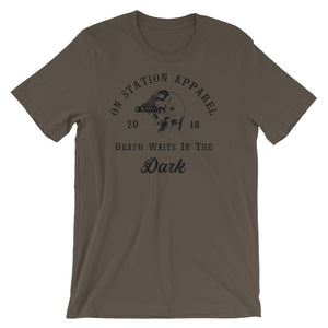 Death Waits in the Dark Short-Sleeve Unisex T-Shirt