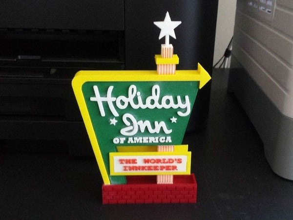 1-160TH N SCALE 3D PRINTED HOLIDAY INN MOTEL SIGN