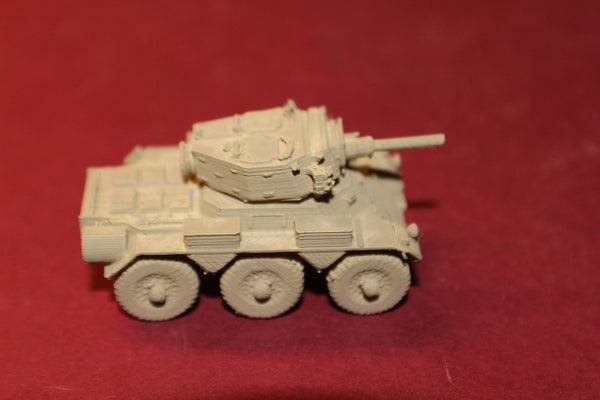 1-87TH SCALE 3D PRINTED BRITISH POST WAR FV601 SALADIN SIX-WHEELED ARMOURED CAR
