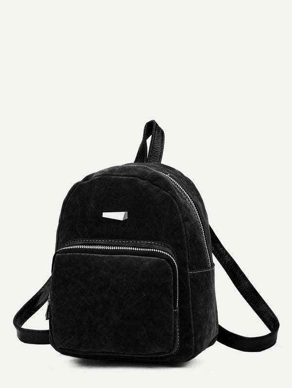 Bernadette Black Suede Backpack
