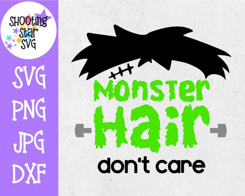 Monster Hair Don't Care SVG - Frankenstein Face