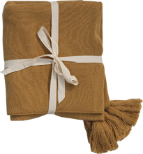 Load image into Gallery viewer, Tassle Baby Blanket - Harvest Gold