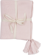 Load image into Gallery viewer, Tassle Baby Blanket - Blush