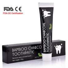 Load image into Gallery viewer, Activated Bamboo Charcoal Whitening Toothpaste