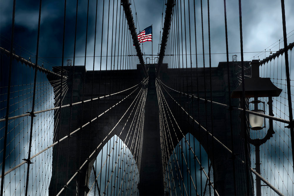 Flag på Brooklyn Bridge