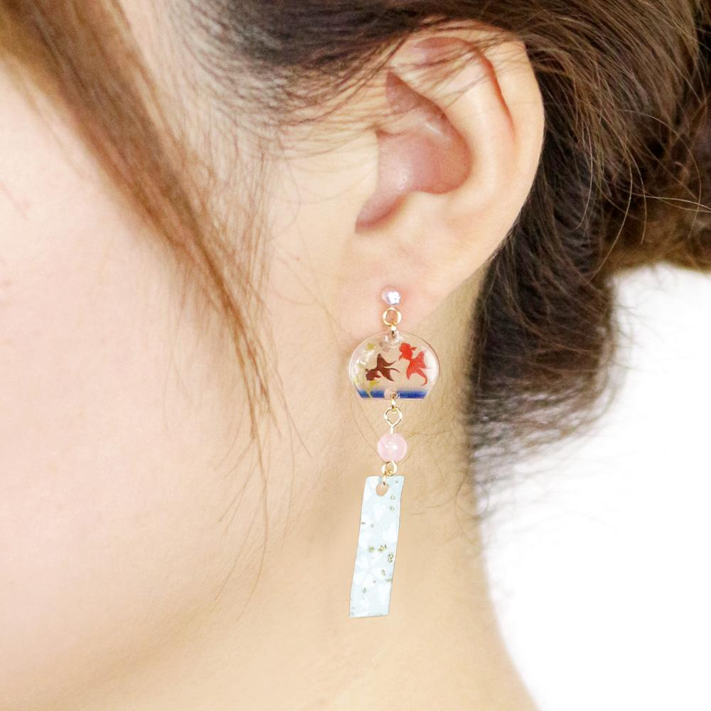 Cool and Refleshing Wind Bell Invisible Clip On Earrings