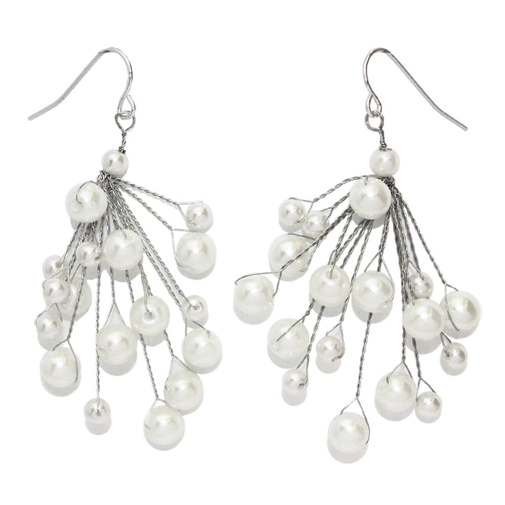 Bubble Pearl Drop Earrings - Osewaya