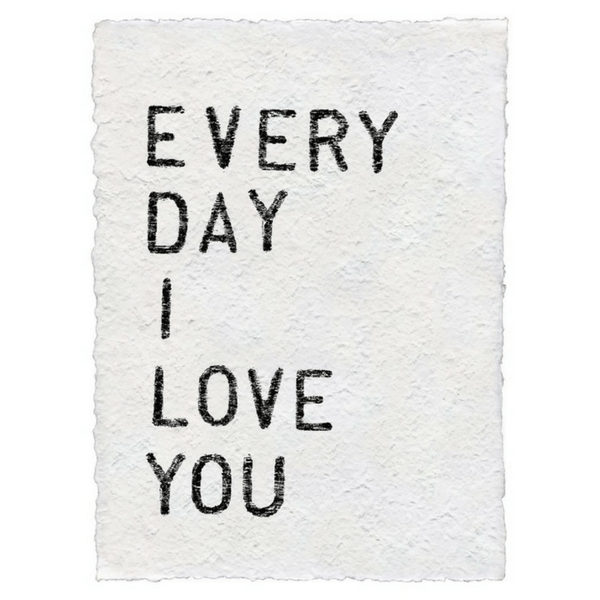 Sugarboo Paper Prints - Every day I love you