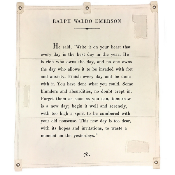 Ralph Waldo Emerson wall tarp from Sugarboo & Co.