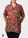 Red Beans BayouWear Hawaiian Shirt Womens Front