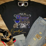 Rams and Wine Rhinestone Bougie Tee