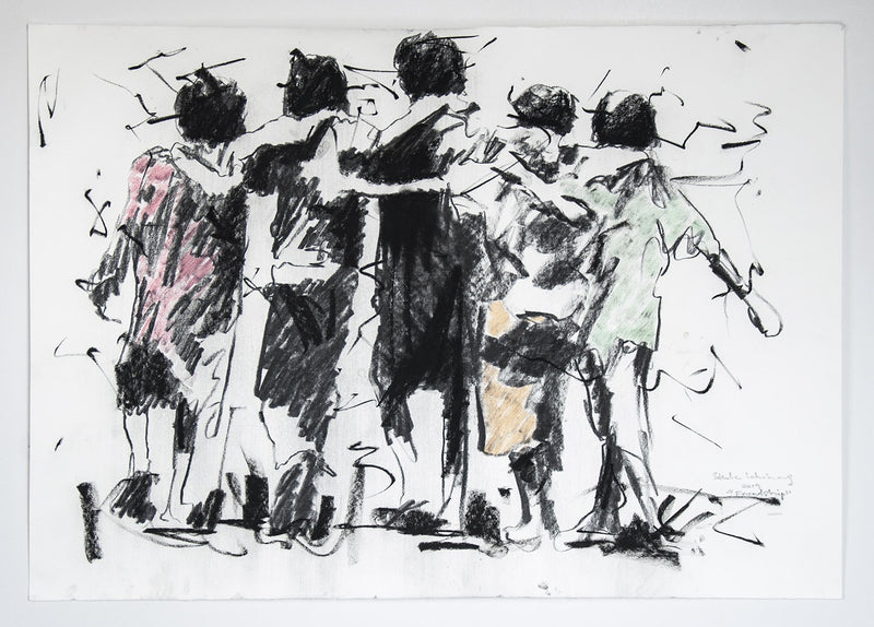 Lebohang Sithole Drawing 'Friendship' 70 x 100 cm C