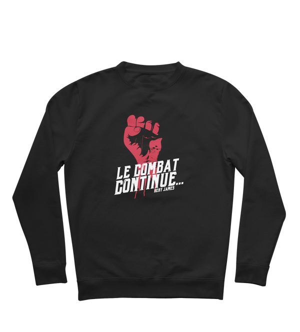 "Sweat ""Le Combat continue"" - Noir"