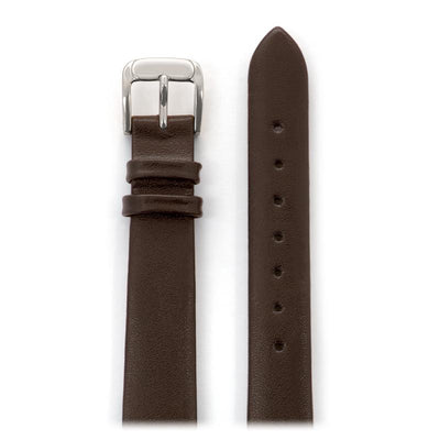 Ladies' Calfskin Leather Band in Black, Brown, White, Red and Navy