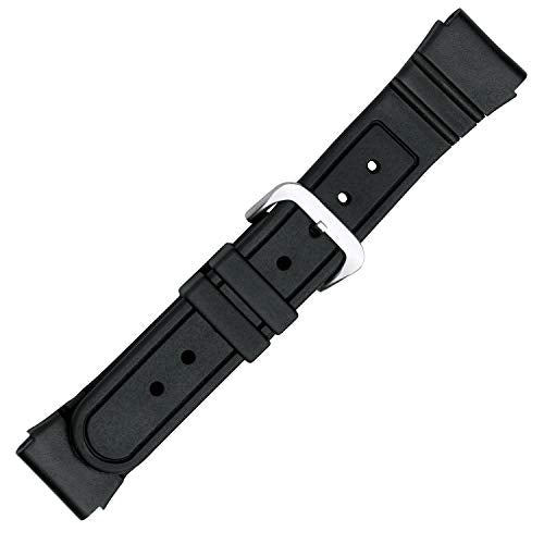 PVC Replacement Black Watch Band in 22mm