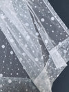 ML19072 Snow Dots Sheer Curtain