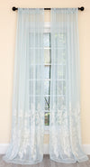 ML19150 Vivid Ocean Coral Semi Sheer Curtain