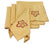 "XD75018 Bountiful Leaf Napkins, 21""x21"", Set of 4"