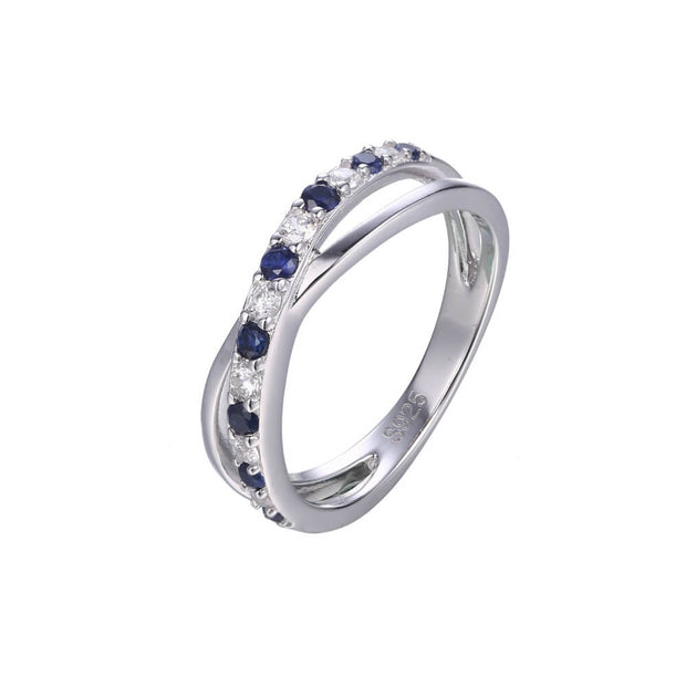 ANILLO DESTIN BLUE PLATA ITALIANA