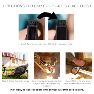 Chick Fresh - Eliminate Odors From Chicken Coop