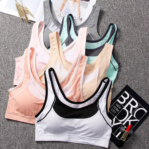 Sports Bras for Fitness Yoga Running Seamless Tank Top Fitness Women Bras Gym Gathering Shockproof Brassiere Sport bh beha