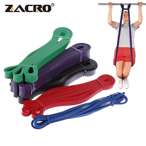 Zacro Fitness Rubber Bands Resistance Band Unisex 208Cm Yoga Athletic Elastic Bands Loop Expander for Exercise Sports Equipment - Pro Lyfstyle Store