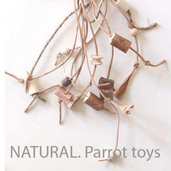 Natural parrot toys
