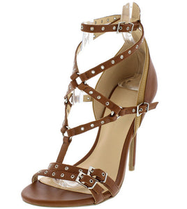 KAY BROWN STRAPPY HEEL