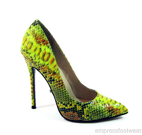 Fierce Faux Snake High Heel Single Sole Stiletto Pumps
