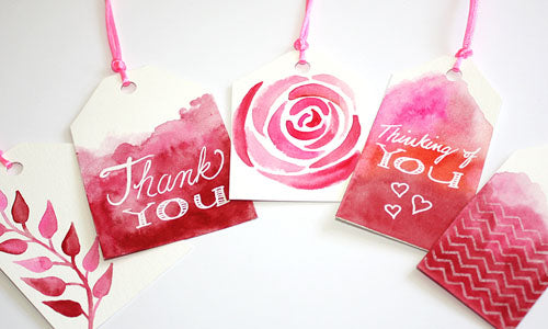 Tutorial: Make your own watercolor gift tags