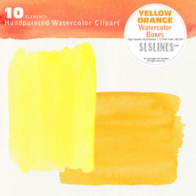 Load image into Gallery viewer, Yellow Orange Watercolor Boxes and Rectangles - slslines