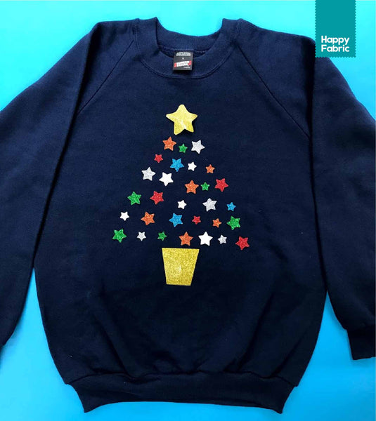 Happy Fabric Christmas Jumper