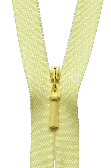 "YKK 9"" Invisible Zip - Lemon 503 - The Village Haberdashery"