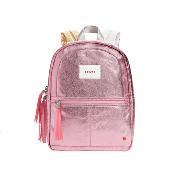 Mini Kane Backpack / Pink + Silver