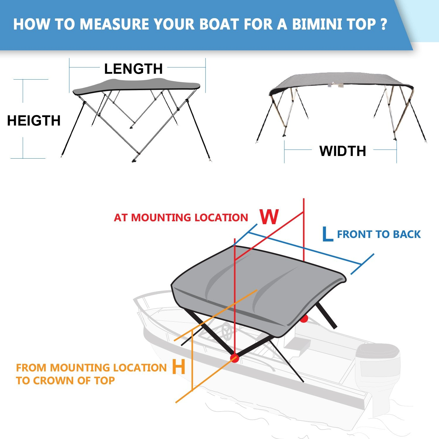 leader accessories 4 bow bimini tops