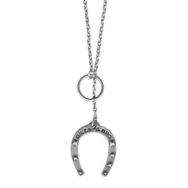 Fine Horseshoe Lariat Necklace | Giles & Brother