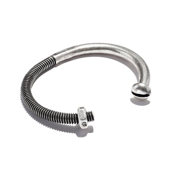Skinny Nut & Bolt Cuff Silver Oxide | Giles & Brother