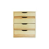Four Drawer Pine Wooden Storage Unit