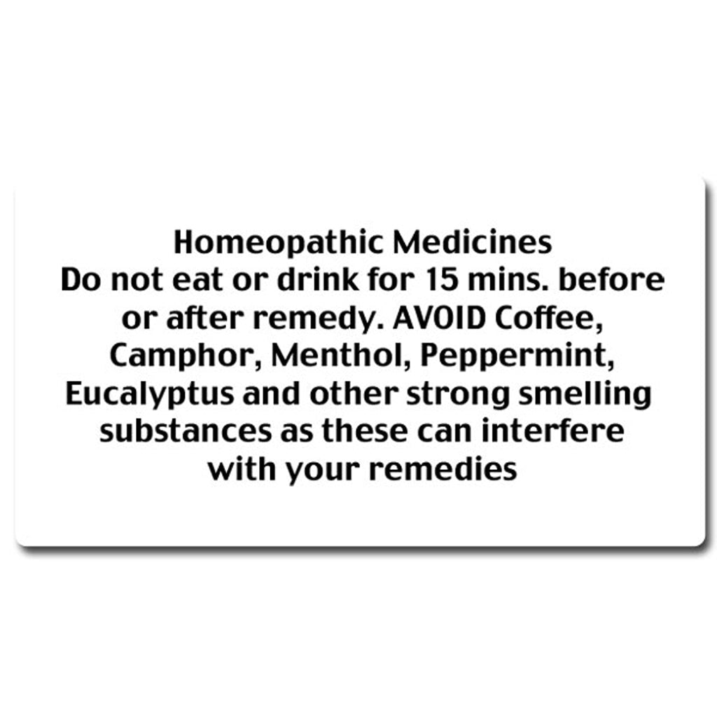B - Homeopathic Medicine Instruction Labels (35 per sheet)
