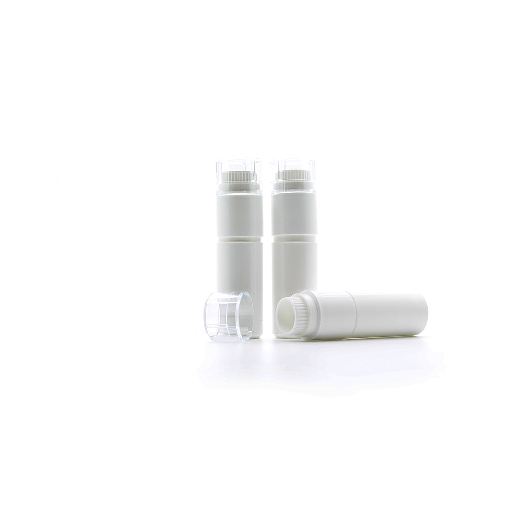 4g White Plastic Dosage Dispenser With Plastic Liner filled with SL56
