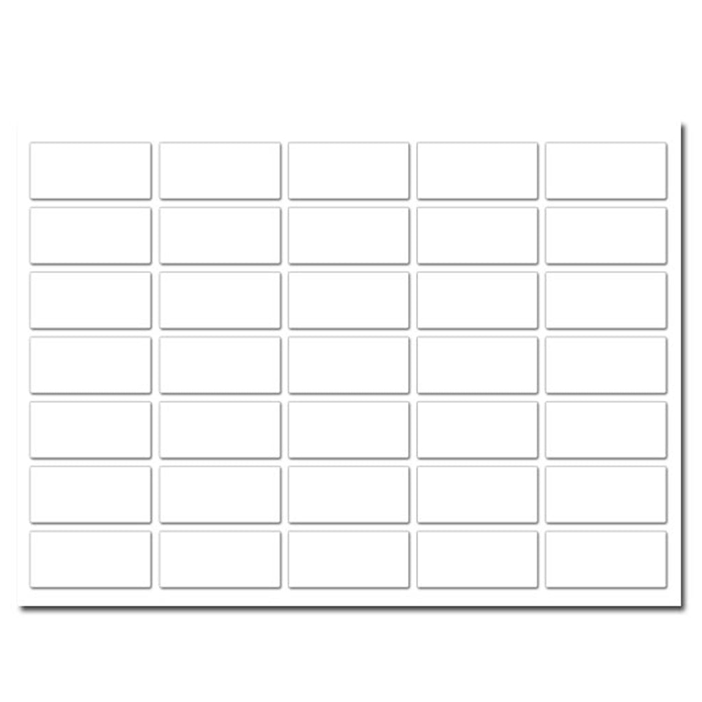 H - White Rectangular Labels (35 per sheet)