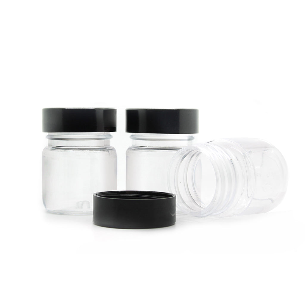 40ml Clear Plastic Jar with Lid