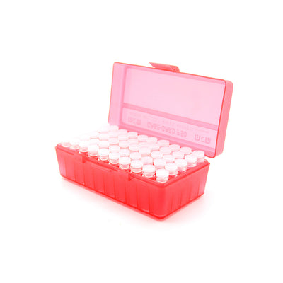 Red Plastic Box with 50 x 2g/1.75ml Push-in Plug Vials