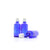 50ml Blue Moulded Glass Screw Cap Bottle with Tamper Evident Cap