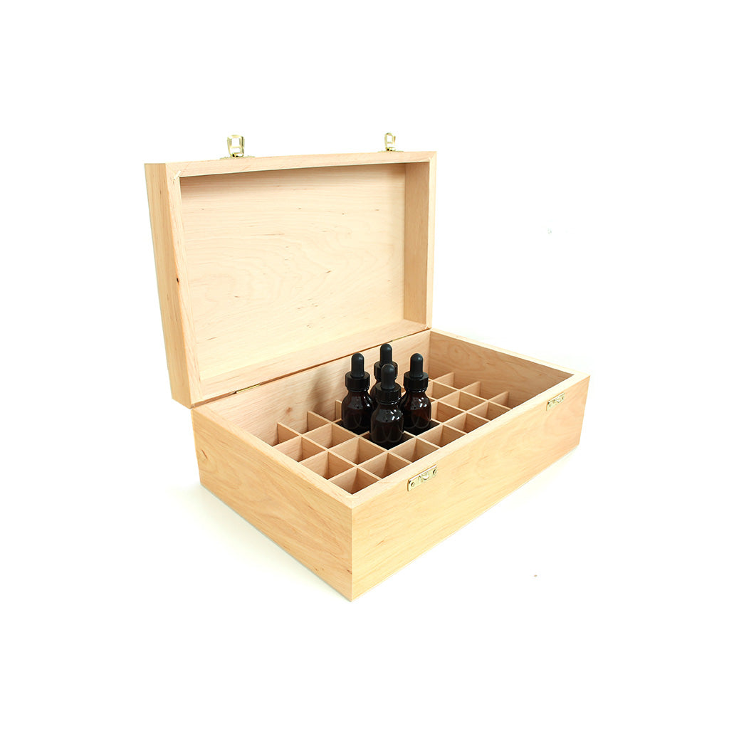 Alder Wood Box to hold 40 x 32mm Bottles