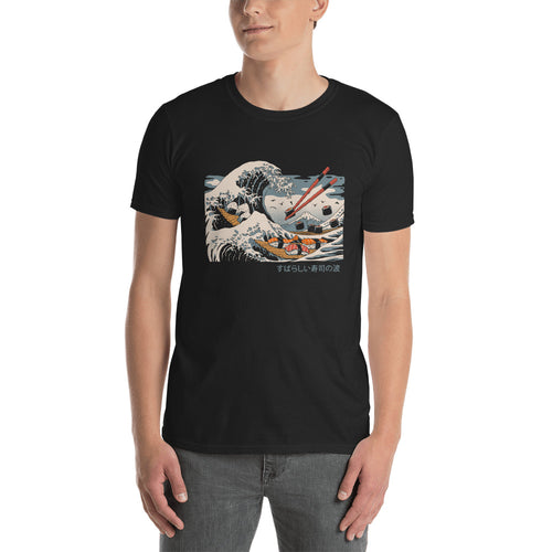 The Great Sushi Wave Short-Sleeve Unisex T-Shirt